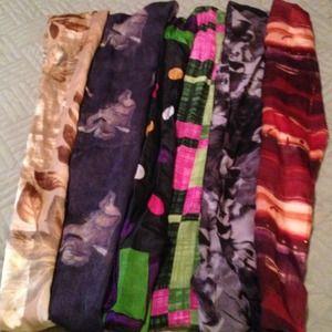 Bundle of silk scarves