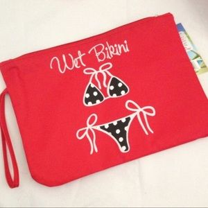 NEW Wet Bikini embroidered wristlet