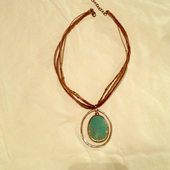 Silpada jewelry turquoise silver and leather necklace poshmark turquoise silver and leather silpada necklace aloadofball Images