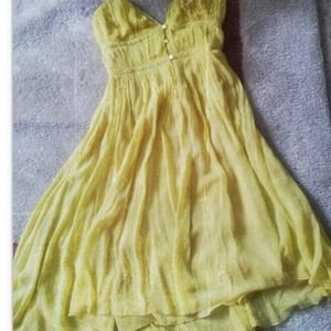 Dresses & Skirts - TRADED!!  Canary Yellow, Mellow Yellow......HELLO!