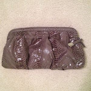 Party clutches faux snake skin