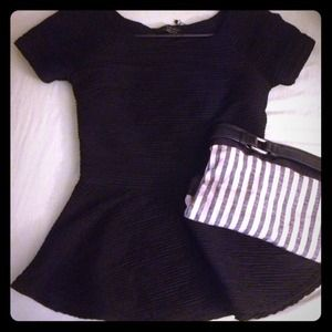 Zara peplum black top