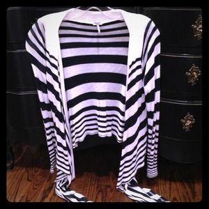Splendid striped draped wrap sweater