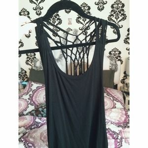 Net/Fringed Back Tank