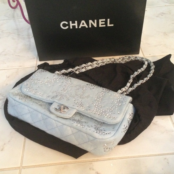 952a5f3ab80 CHANEL Bags | Sold Swarovski Crystal Bag | Poshmark