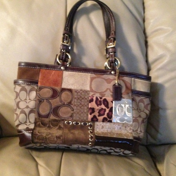 coach bags leather patchwork purse poshmark