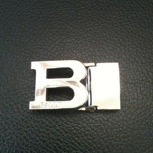 Classic Bally silver belt buckle