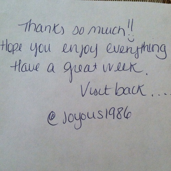Popular Thank You Note From Joyous1986 | Poshmark NU08