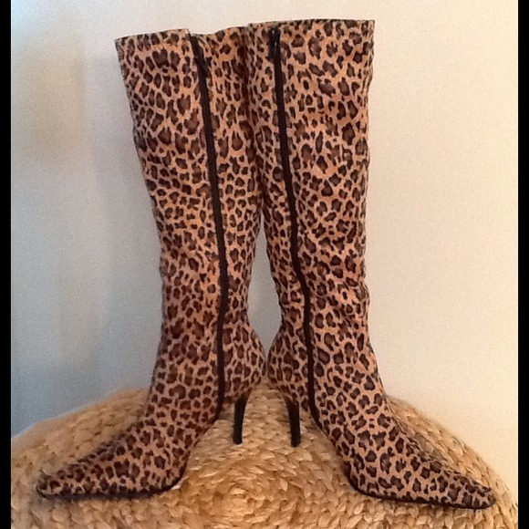 33% off Bakers Shoes - Bakers Cougar Leopard Print Knee High Boots ...