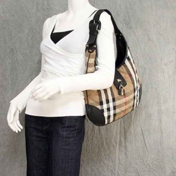 89af238616 Burberry Bags | Sold Brook Nova Leather Check Hobo | Poshmark