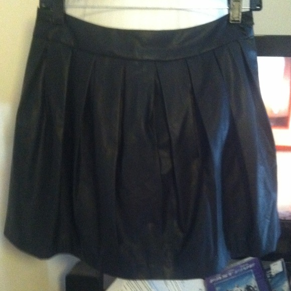 Forever 21 Dresses & Skirts - Faux leather pleated skirt from Forever21
