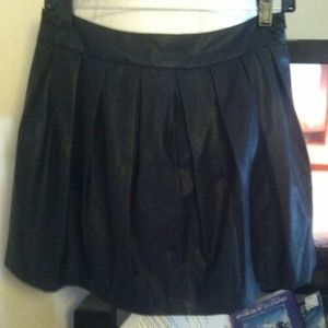 Faux leather pleated skirt from Forever21