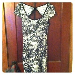 Charlotte Russe Dresses - Black and white leopard print dress -ON SALE!