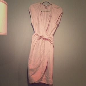 Diane Von Furstenberg linen dress in lilac
