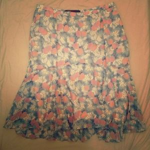 Reduced!!! Marc Jacobs silk printed skirt