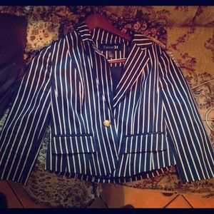 Forever 21 Jackets & Blazers - Navy blue blazer with Cotten candy pink stripes