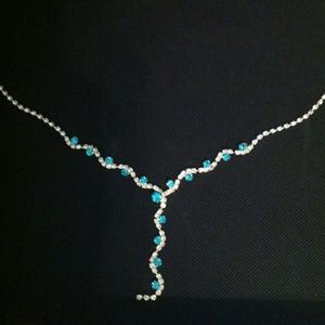 Accessories - Beautiful Blue and White Diamond Necklace.