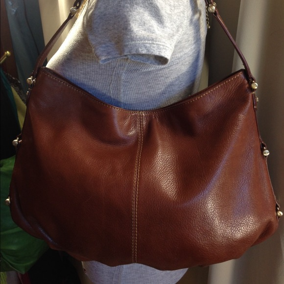 Liz Claiborne - Liz Claiborne Brown Leather Hobo from Hiedi's ...