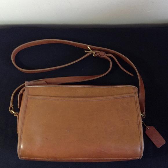 Vintage Coach Brown Leather Shoulder Bag 50