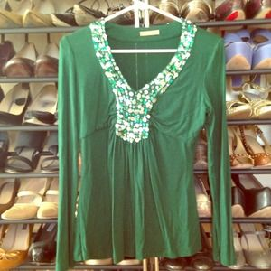 Tops - Pantone color of the year! Emerald glitter top