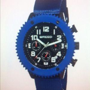 Breed Accessories - Breed 1502 Decker Watch - Blue