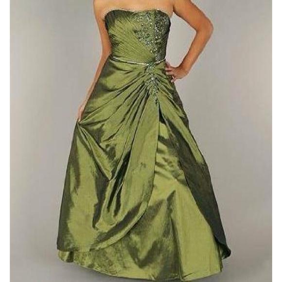 Gojane Dresses Olive Green Formal Dress Poshmark