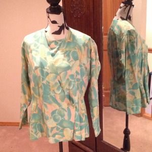 ⏰Dattillo Blouse and Jacket in Silk Sz 12-14