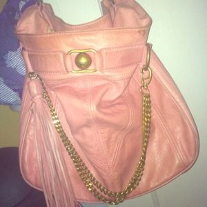 Juicy Couture Pink Leather Hobo handbag!