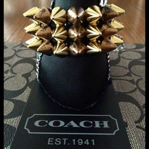 Spiked Antique Gold Bracelet