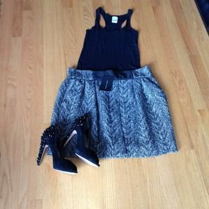.Zara tweed tulip skirt