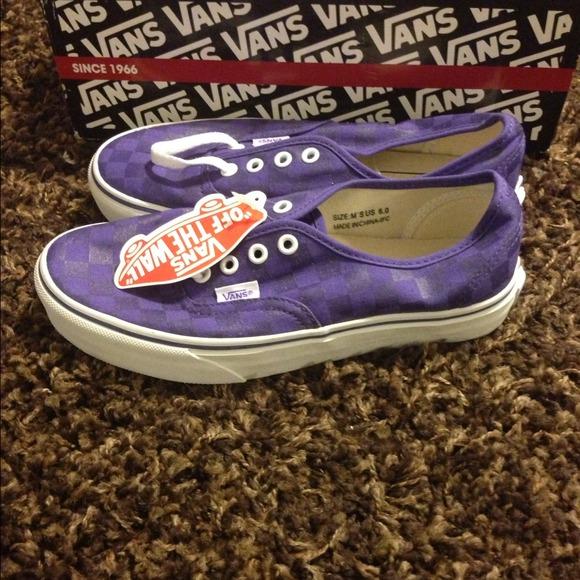 502e1fa9ca1678 Never worn size 6 purple block design van sneakers. NWT. Vans
