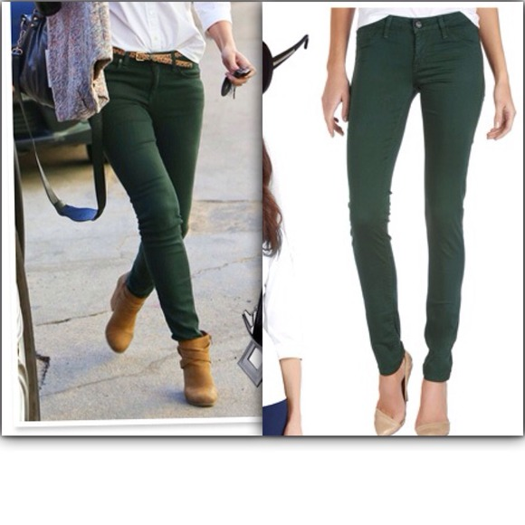 50% off Express Denim - Dark green express skinny jeans from ...