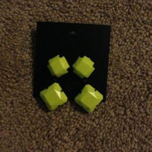 H&M neon earrings