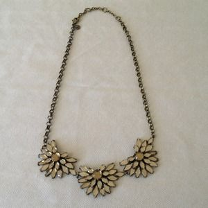 Jcrew Flower rhinestone necklace