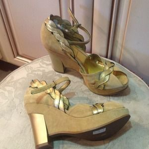 Miss Sixty brown platform shoes brand new