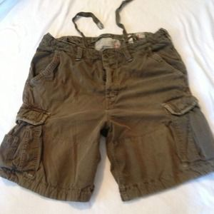 Abercrombie men cargo shorts size large L