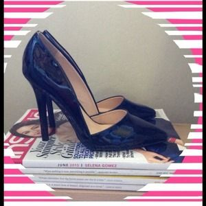 Qupid Shoes - Qupid Asymmetrical Black Heels