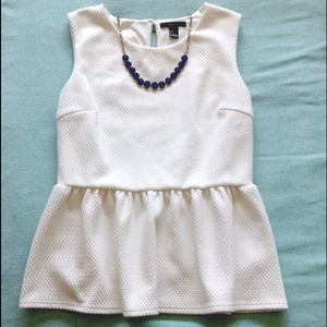 Forever 21 Tops - SOLD 💗 Forever 21 Peplum Top