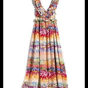 24e72e53b2136 H&M Dresses | Hm Garden Collection Floral Maxi Dress | Poshmark