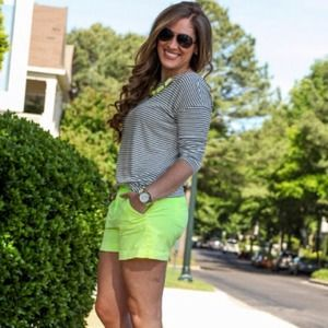 Gap Ombré Neon Yellow Chino Shorts bundle!