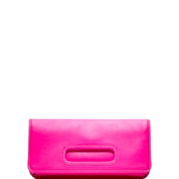 hot pink fold over clutch coach legacy very rare