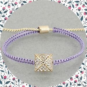 Hannah Beury Jewelry - Purple Pyramid Bracelet