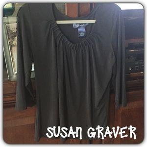Susan Graver Tops - 💕Susan Graver💕 Liquid Knit Rouched Top