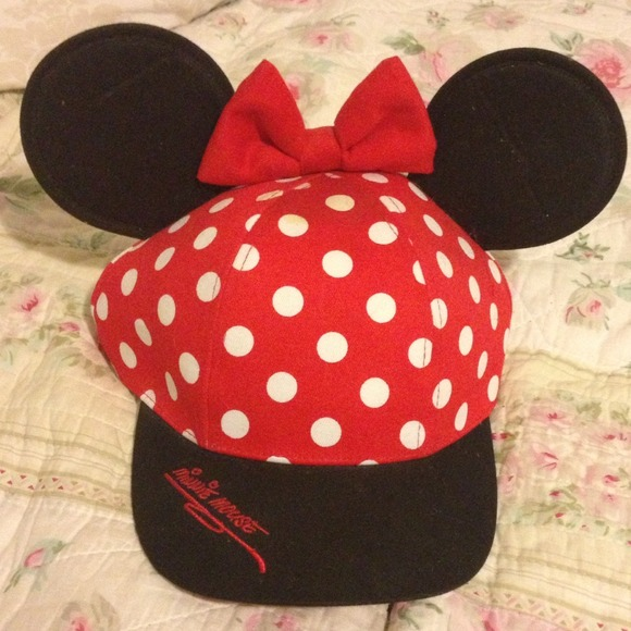 Disneyland Minnie Mouse ears SnapBack hat b590abe4cf5
