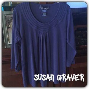 Susan Graver Tops - 💞Susan Graver💞 Liquid Knit Pleated Top
