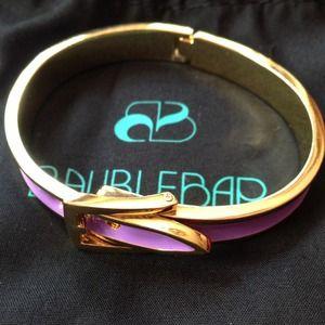 BaubleBar lavender buckle bracelet