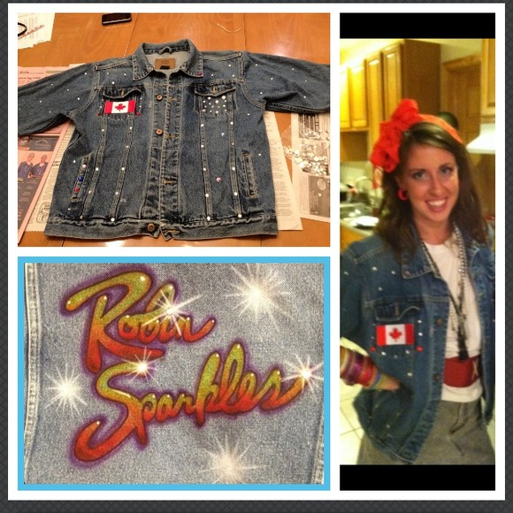 Custom made Robin Sparkles denim jacket 4 from Paige's ...