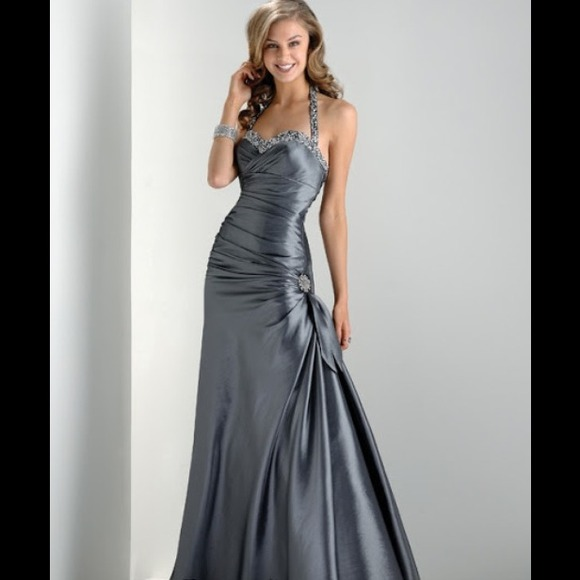 Flirt by Maggie Sottero Silver Prom Dress