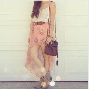Pants & Jumpsuits - Floral High Low skirt