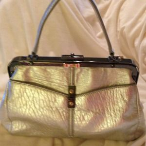NEW! Silver Leather Henri Bendel Handbag